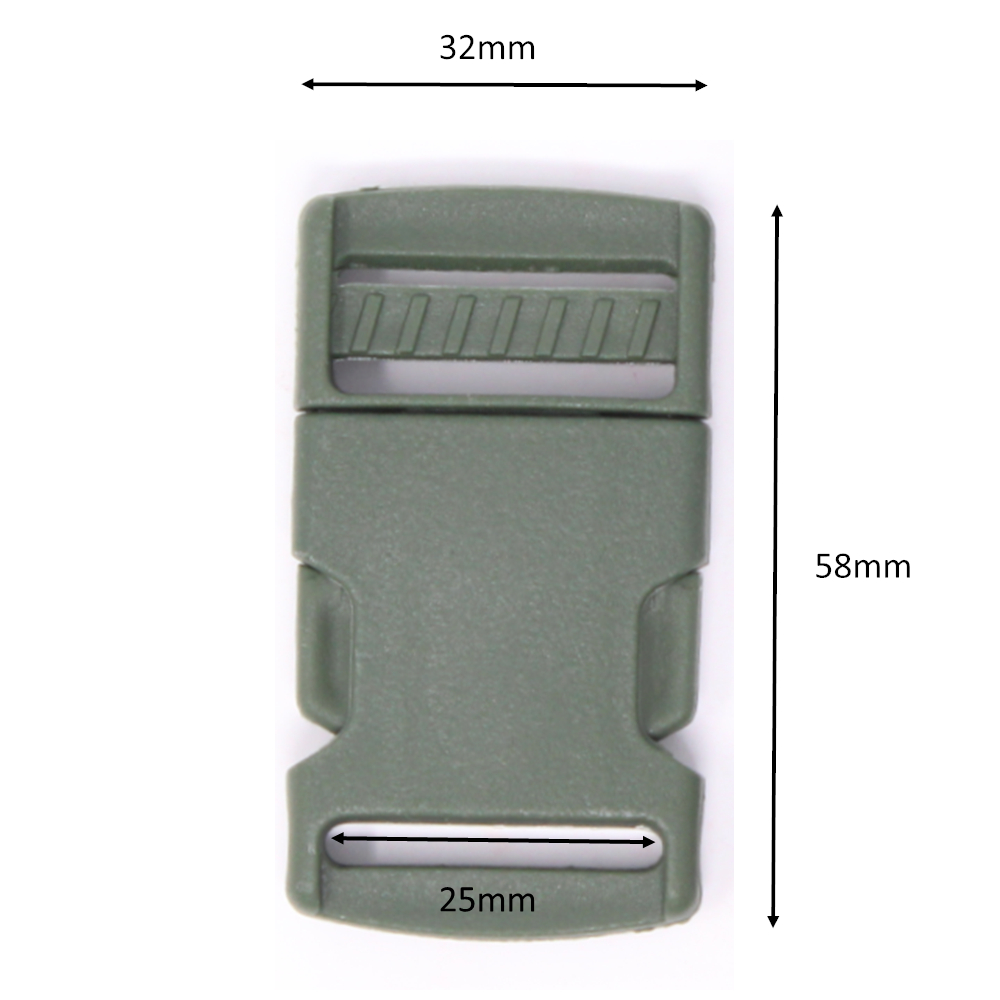 2x Steckschnalle - 25mm - Jägergrün