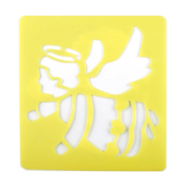 Malschablone Kunststoff - 14 x 15 cm - Engel
