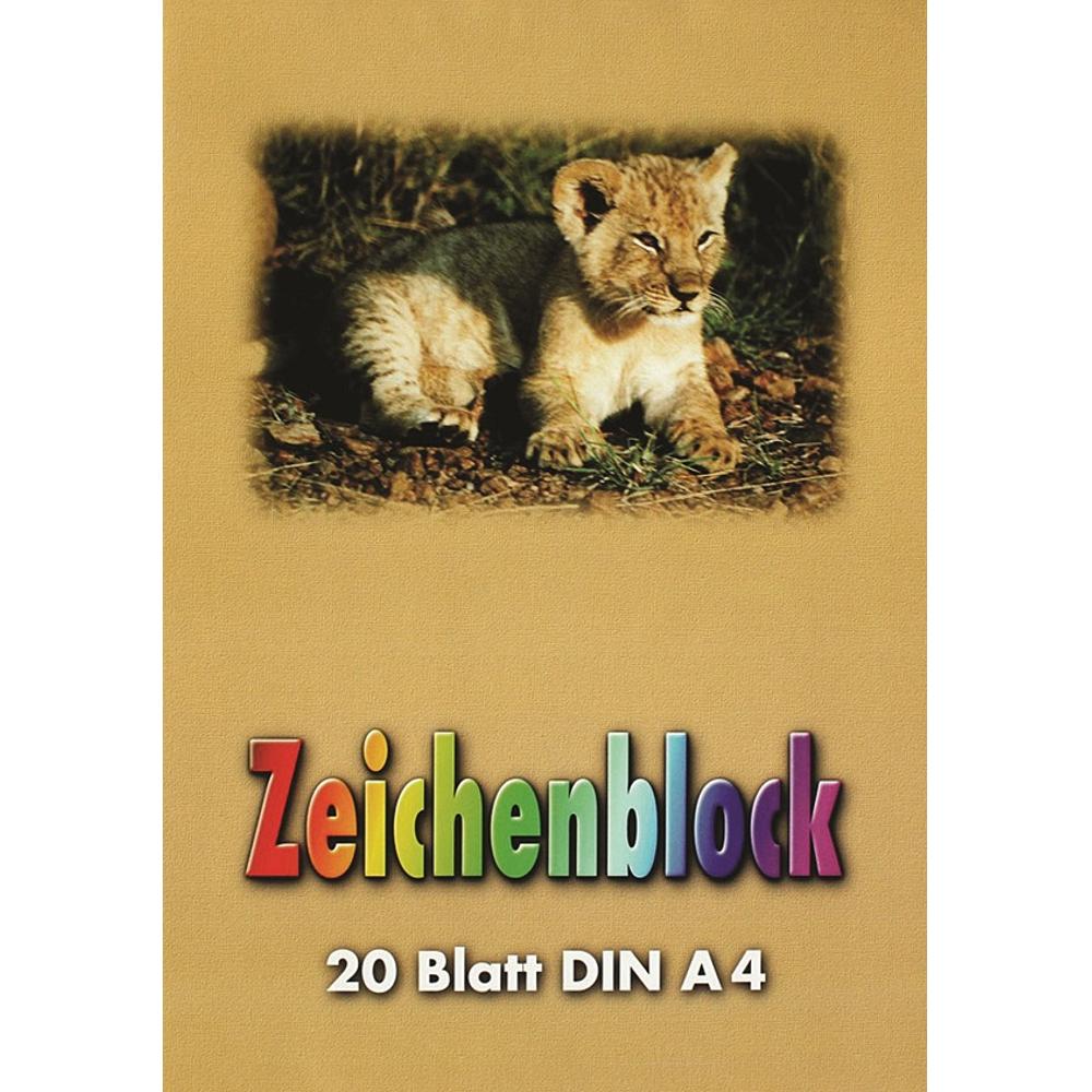 A4 Zeichenblock 90g/² kopfgeleimt mit 20 Blatt
