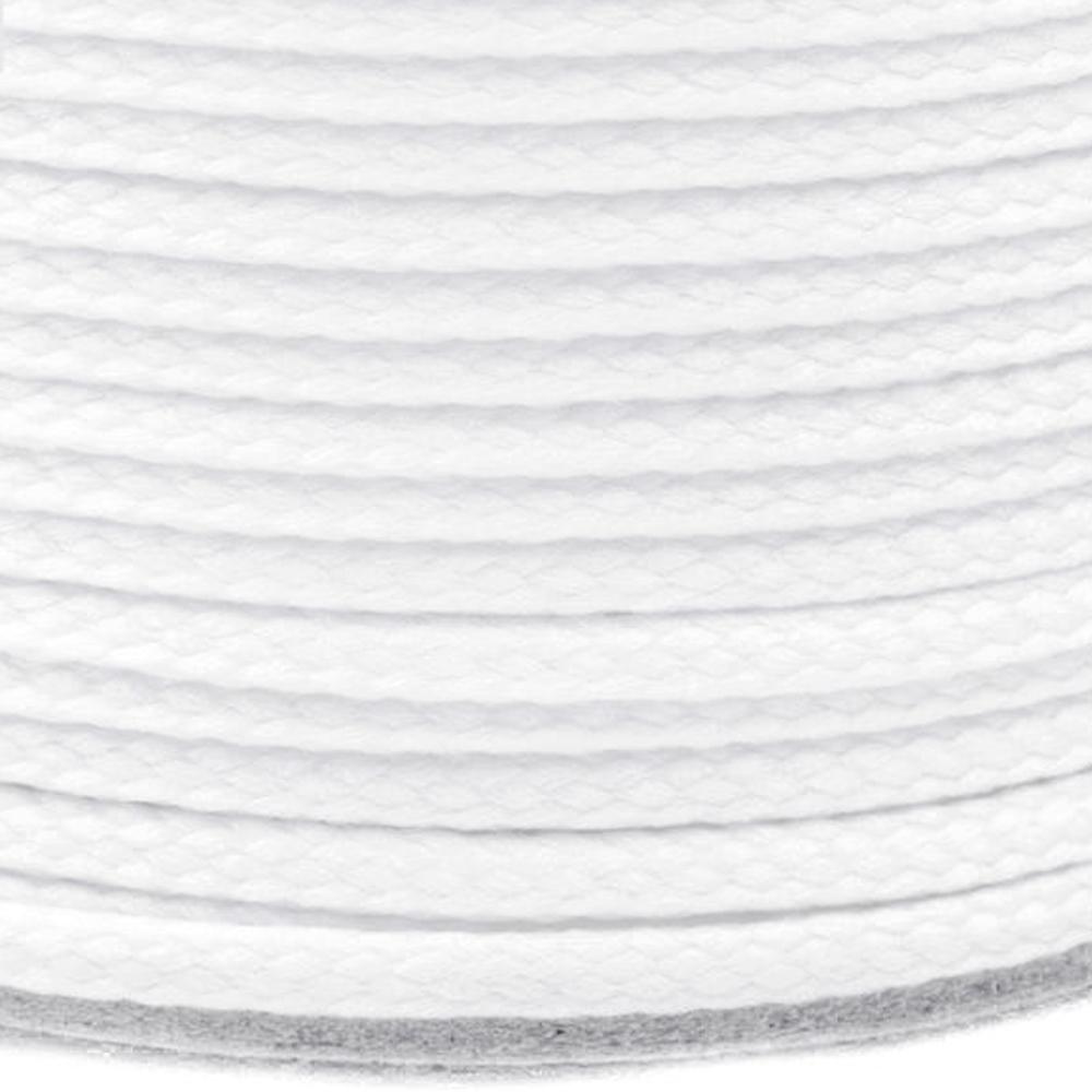 Polyesterschnur 4mm aus 100% Polyester in Off White (0003)
