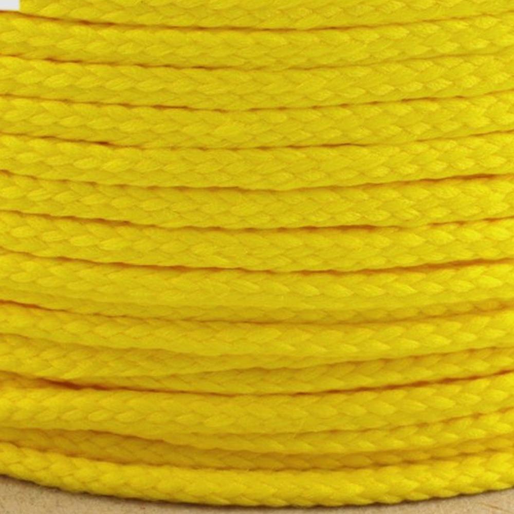 Polyesterschnur 4mm aus 100% Polyester in Dunkelgelb (1257)