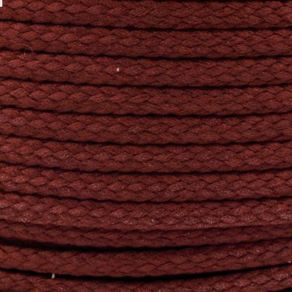 Polyesterschnur 4mm aus 100% Polyester in Rotbraun (3338)