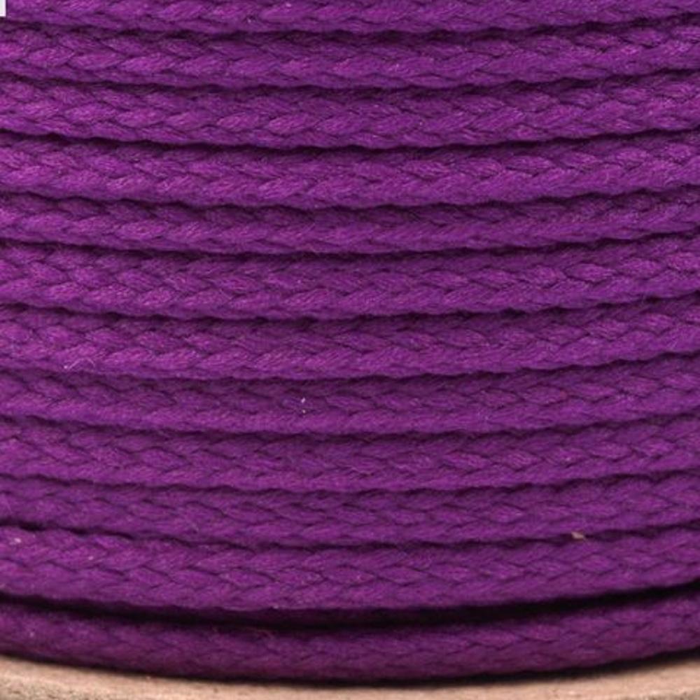 Polyesterschnur 4mm aus 100% Polyester in Lila-dunkel (4018)