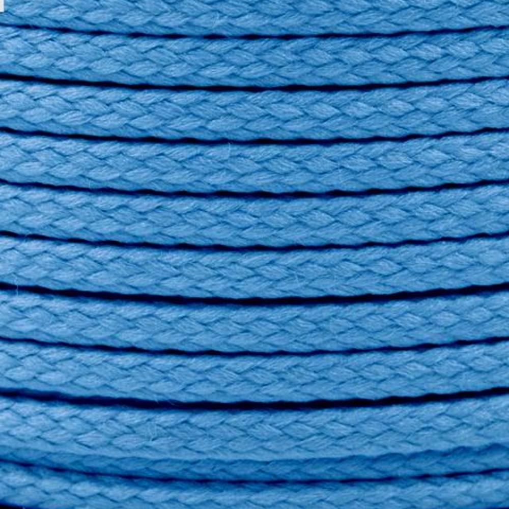 Polyesterschnur 4mm aus 100% Polyester in Hellblau (4906)