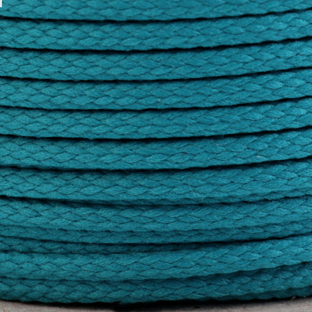 Polyesterschnur 4mm aus 100% Polyester in Türkis (5277)