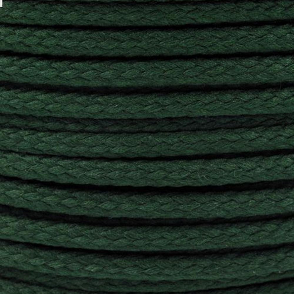 Polyesterschnur 4mm aus 100% Polyester in Dunkelgrün (6398)