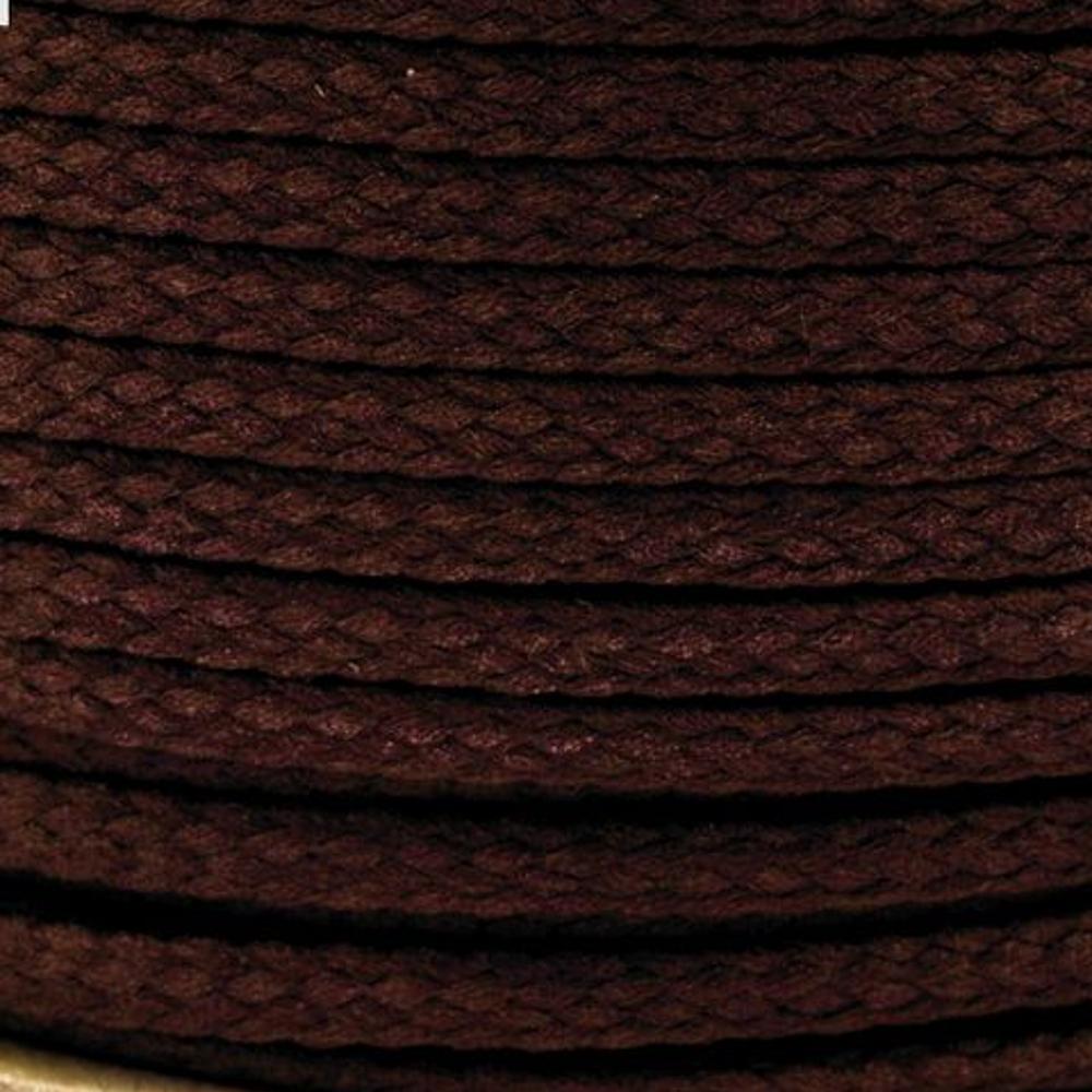 Polyesterschnur 4mm aus 100% Polyester in Dunkelbraun (7679)