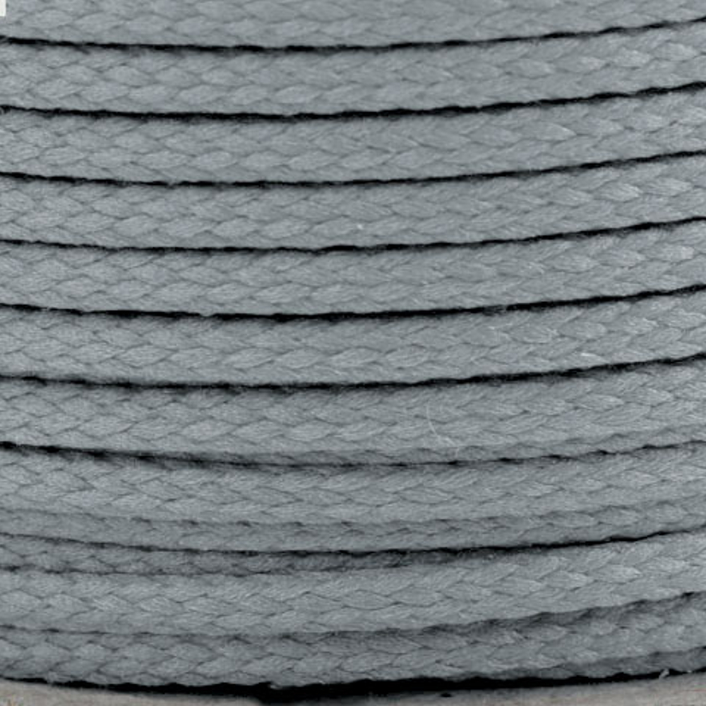 Polyesterschnur 4mm aus 100% Polyester in Hellgrau (8814)