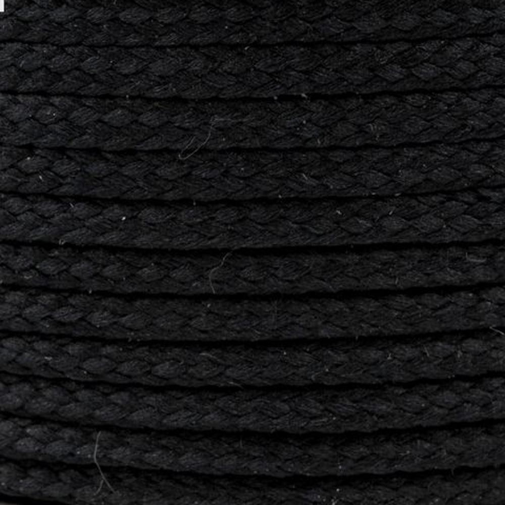 Polyesterschnur 4mm aus 100% Polyester in Schwarz (9001)