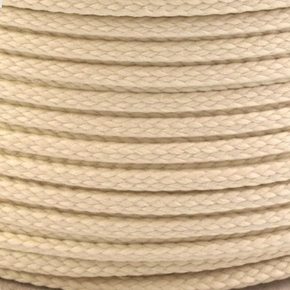 Polyesterschnur 4mm aus 100% Polyester in Beige 0408A