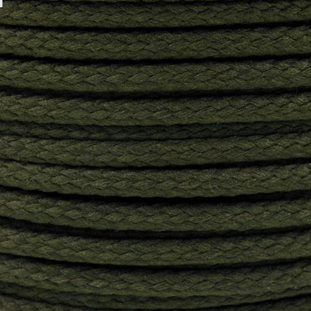 Polyesterschnur 4mm aus 100% Polyester in Armee Oliv 6507