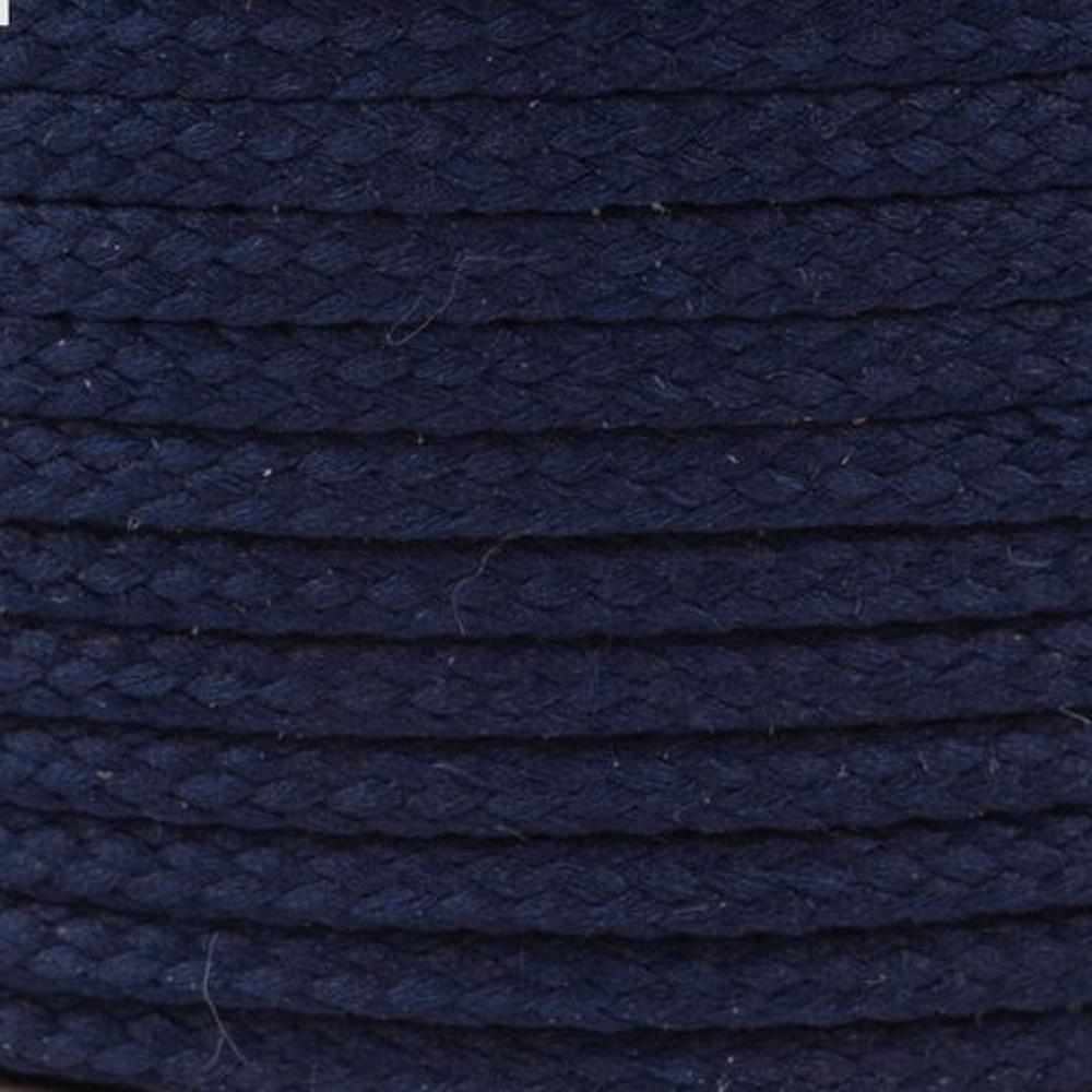 Polyesterschnur 4mm aus 100% Polyester in Tintendunkelblau 4830