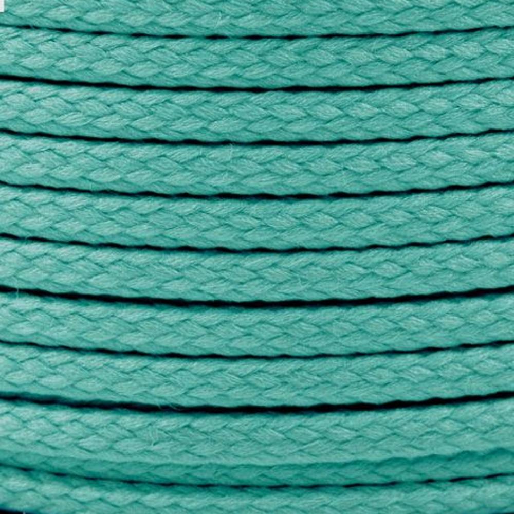 Polyesterschnur 4mm aus 100% Polyester in Türkis hell 5305
