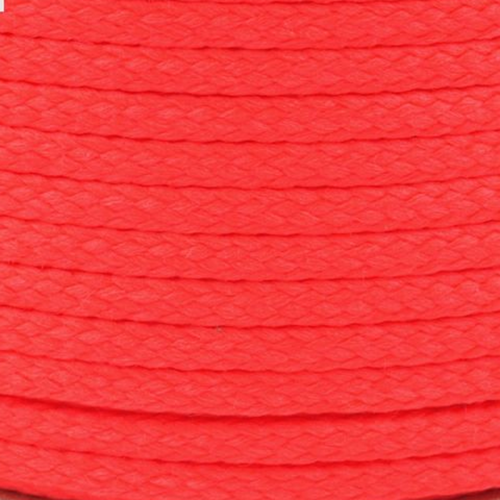 Polyesterschnur 4mm aus 100% Polyester in Neon Rot 0060