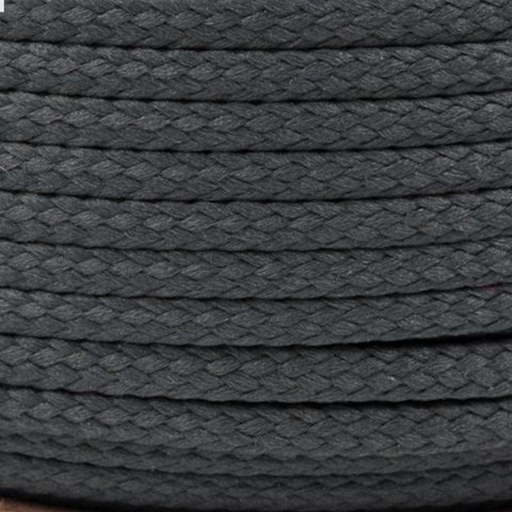 Polyesterschnur 4mm aus 100% Polyester in Kohlegrau 8765