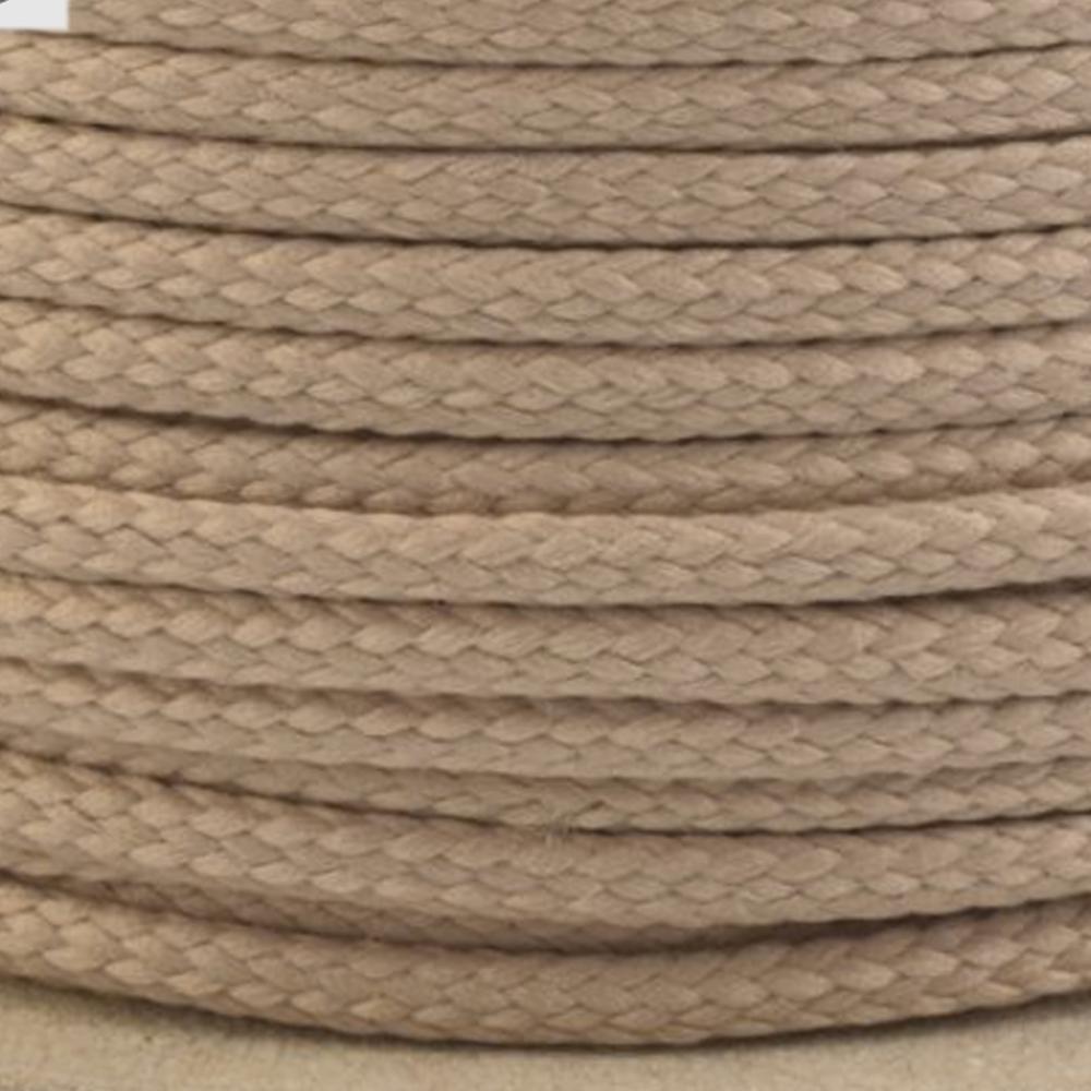 Polyesterschnur 4mm aus 100% Polyester in Dunkelbeige 7385