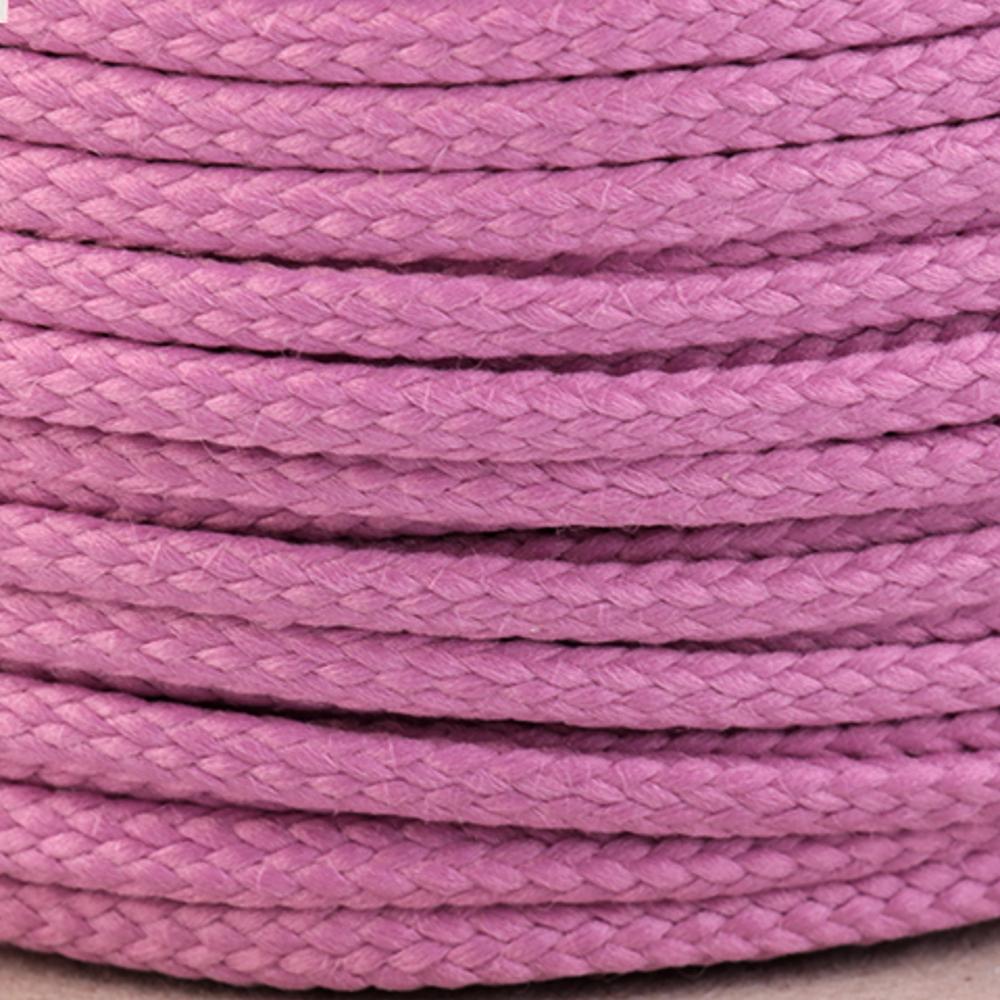 Polyesterschnur 4mm aus 100% Polyester in Rosa dunkel 3684