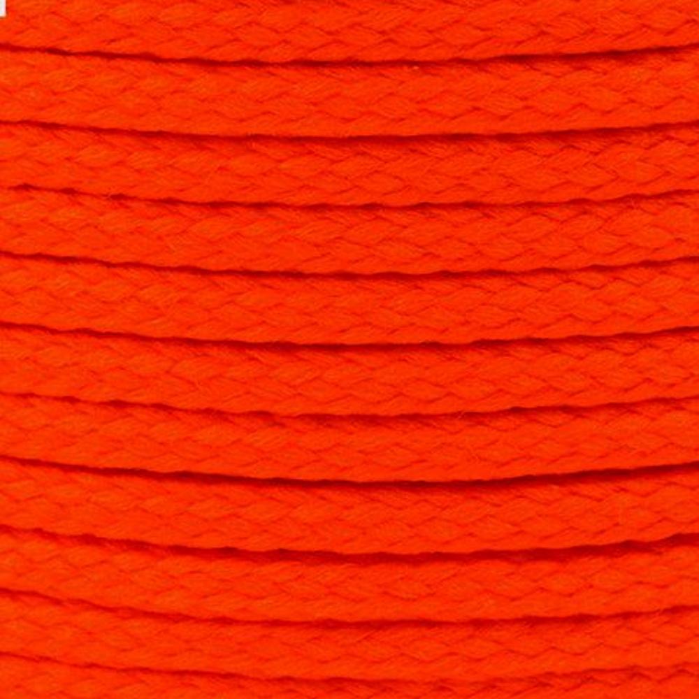 Polyesterschnur 4mm aus 100% Polyester in Neon Rot (2) 3157