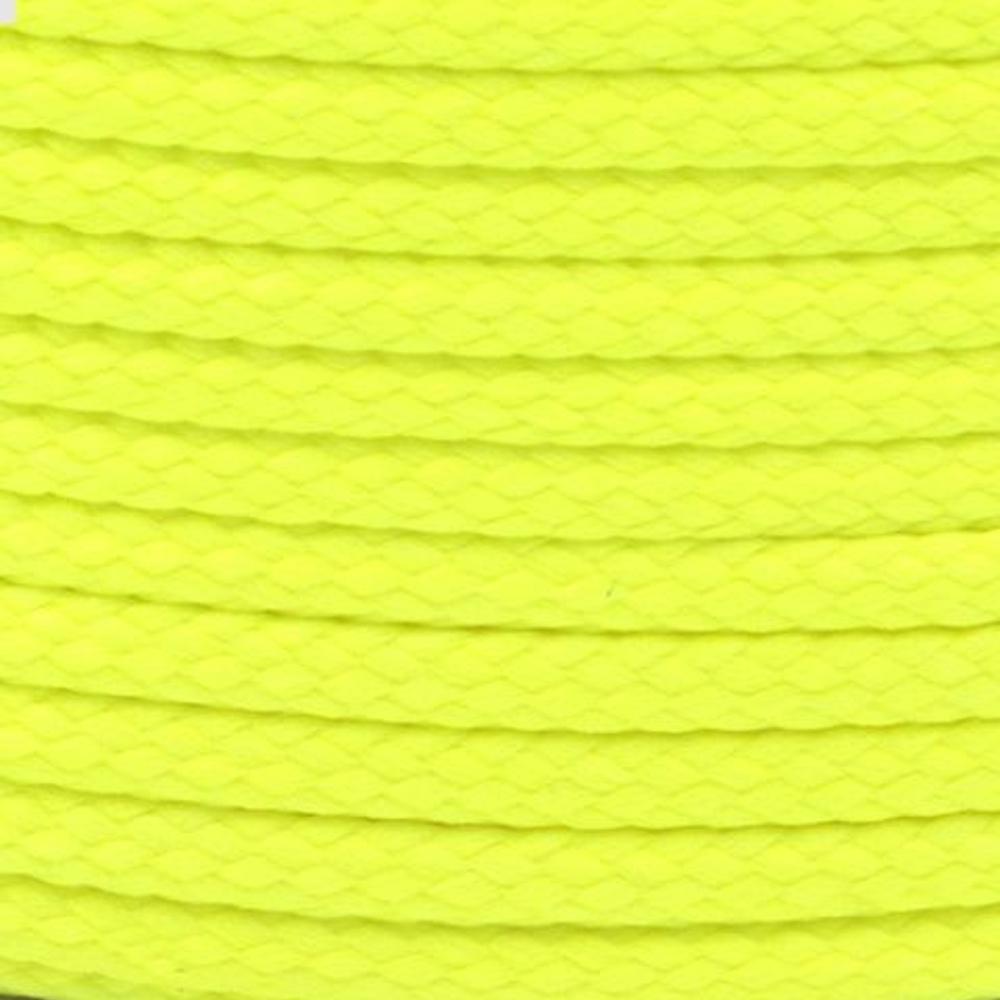 Polyesterschnur 4mm aus 100% Polyester in Neon Gelb 1108