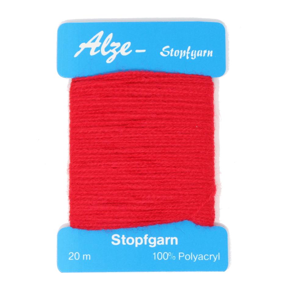 Stopfgarn mit 20 Metern auf Karte gewickelt in Rot (809)