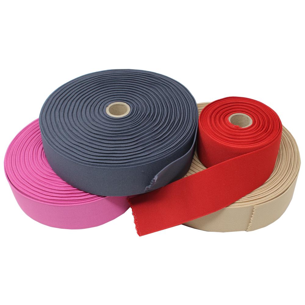 Gummiband - glatt - 50mm breit - verschiedene Farben
