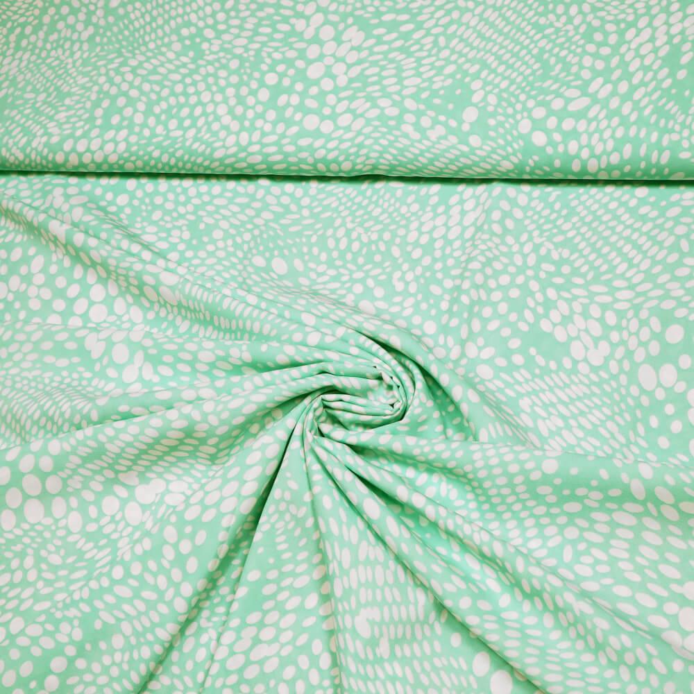 Blusen- und Kleiderstoff mit Punkten - 150 cm - mintgrün/weiss (6403)