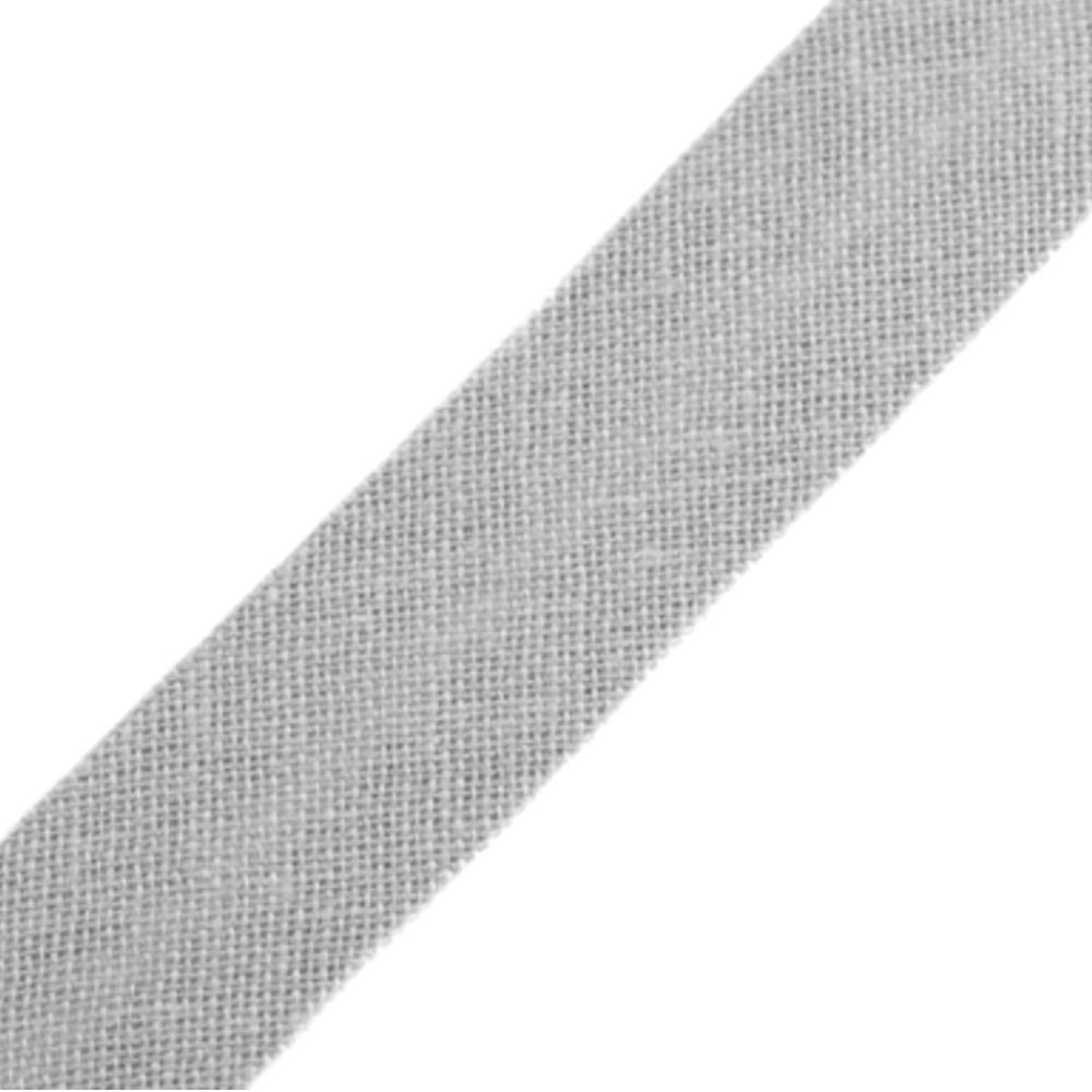 Schrägband aus Baumwolle 14mm breit gefalzt in hellgrau (251)