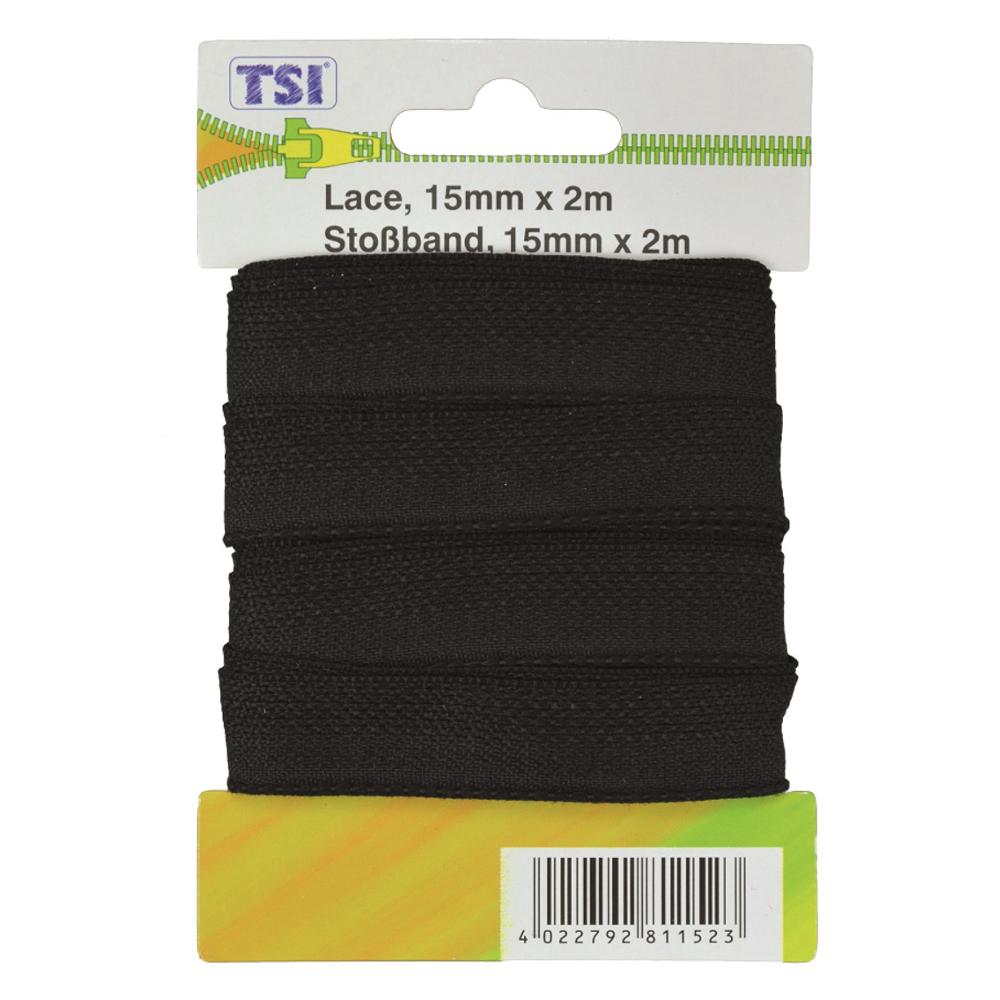 TSI   Stoßband 15 mm x 2 m in Schwarz
