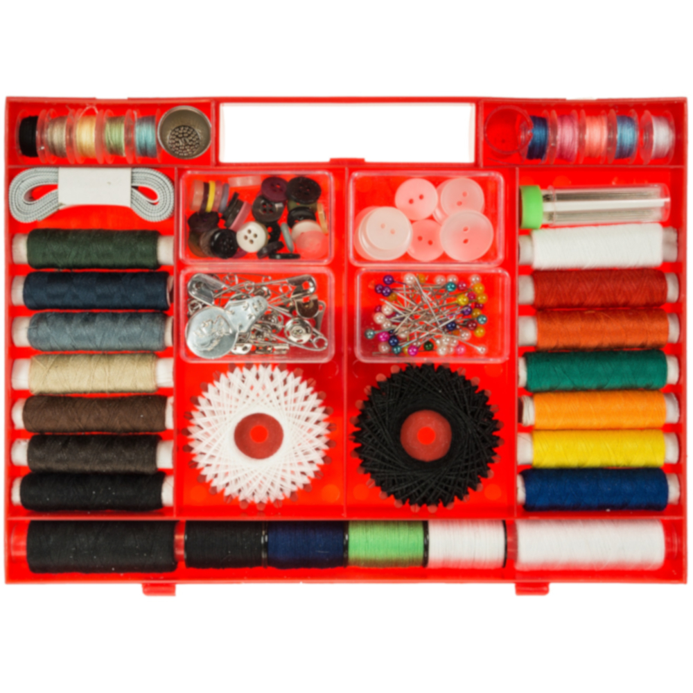 Näh-Set Kurzwaren Box mit 187 Teilen